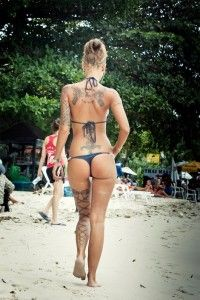 tattoo and bikini