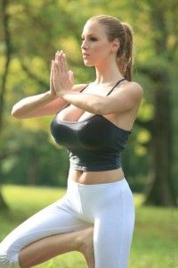 Yoga at nature