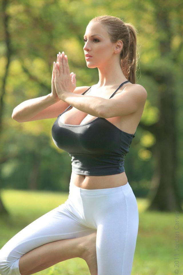 Yoga at natue. Sexy yoga