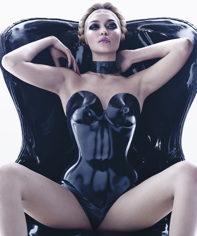 Gigi Hadid Latex Pirelli Calendar