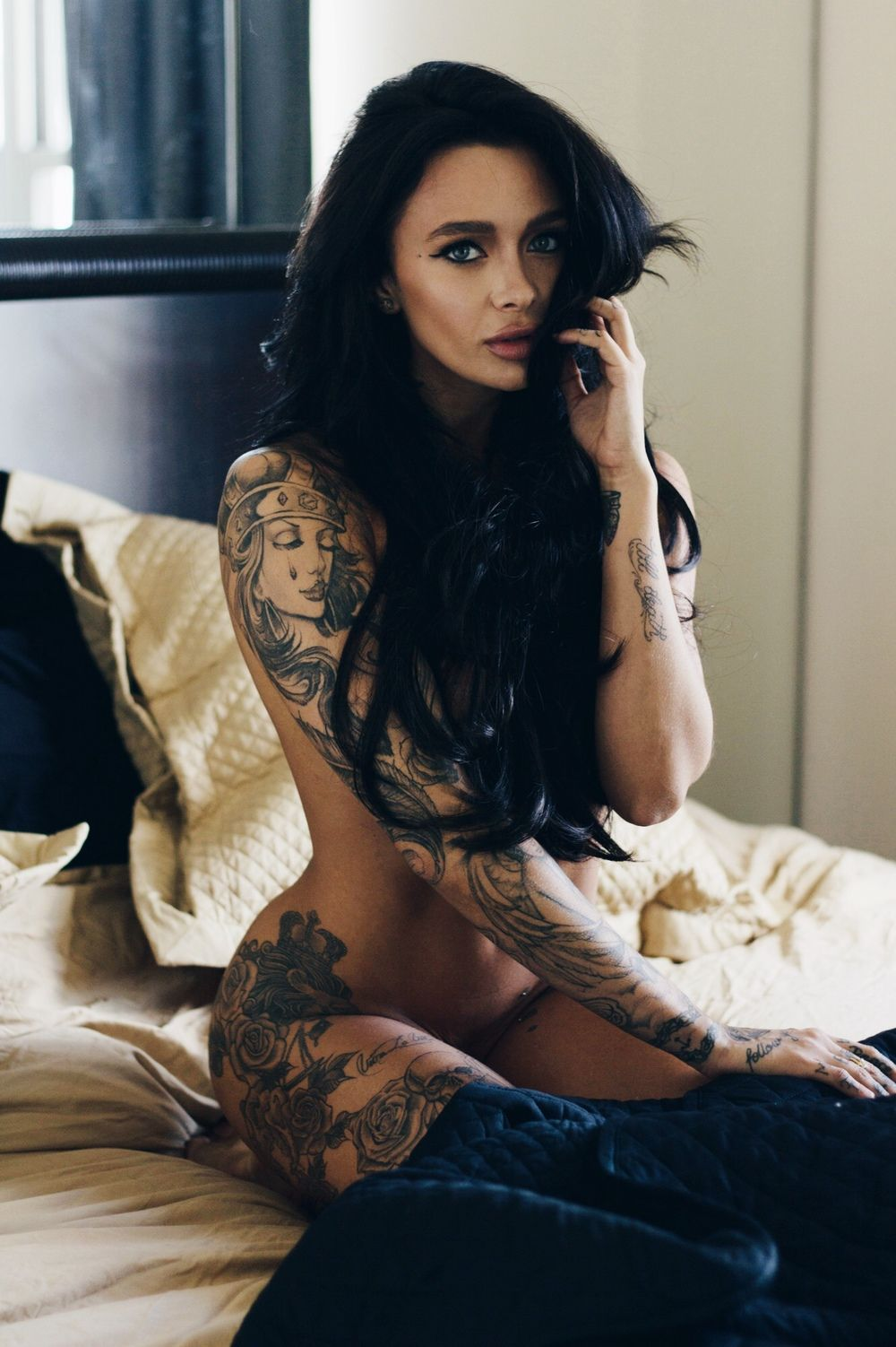 Mercedes Edison stunning tattooed