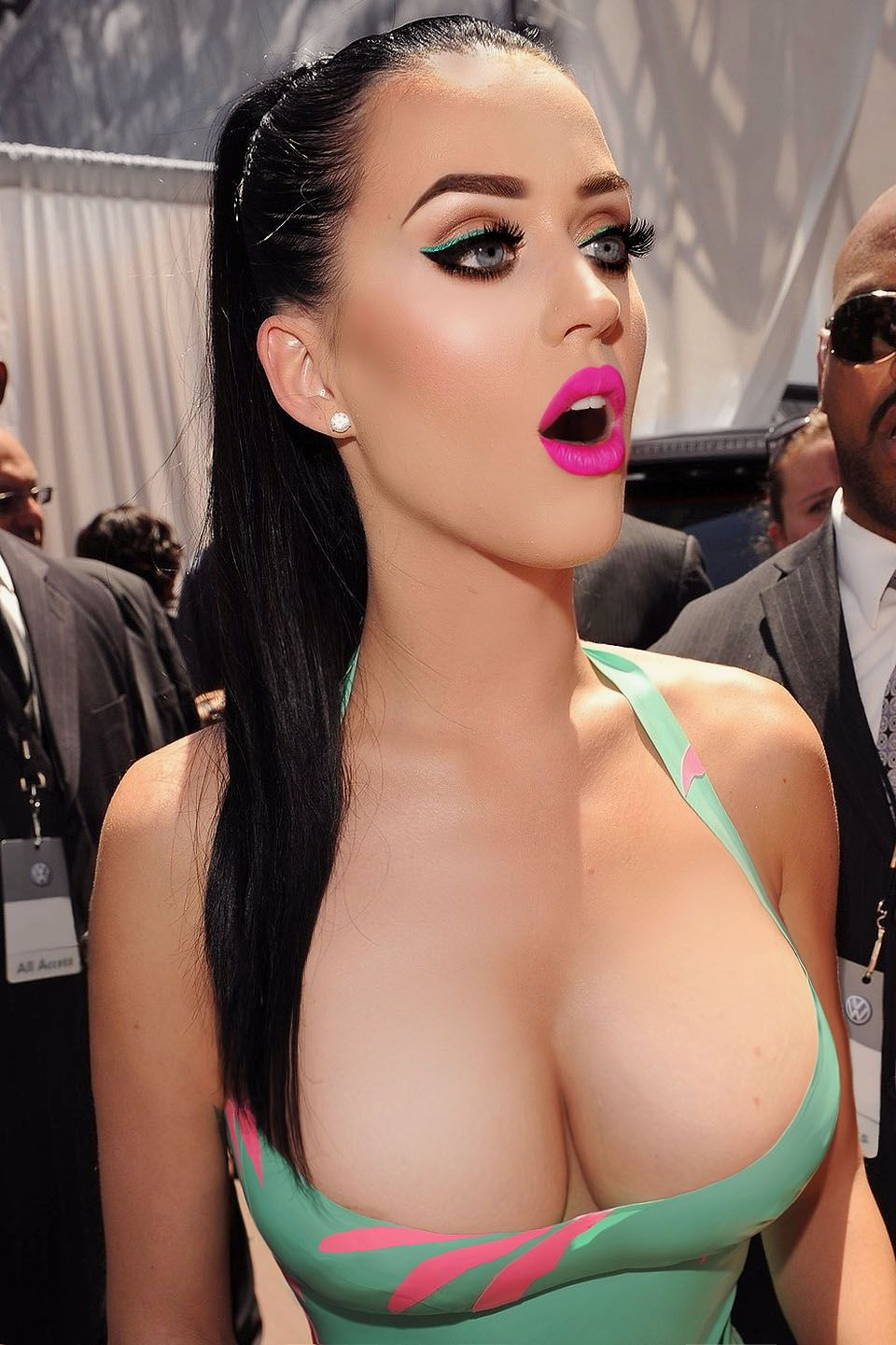 Katy Perry perfect boobs and sexy mouth