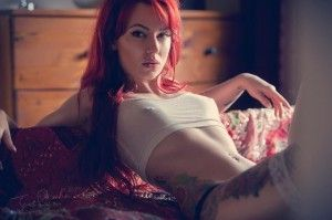 Red Hair Suicide girl
