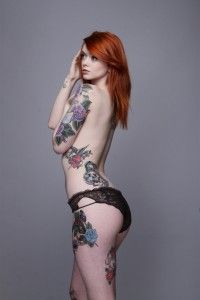 Julie Kennedy |Tattoo RedHair Suicide Girl