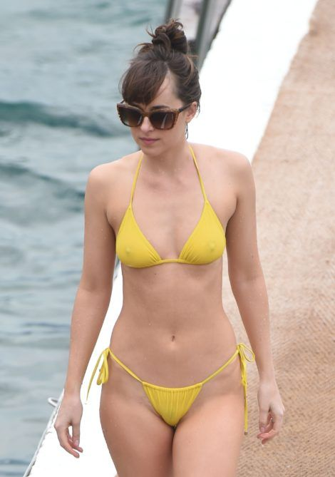 Dakota Johnson see-through bikini