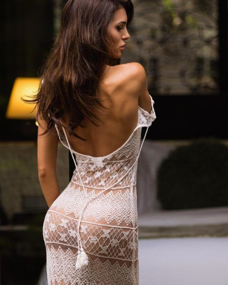 Silvia Caruso thru dress, perfect ass