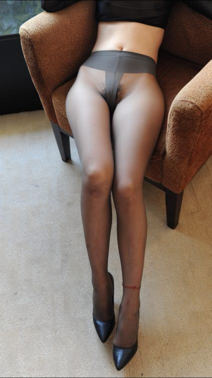 Sexy nylon panties, no thong, perfect legs
