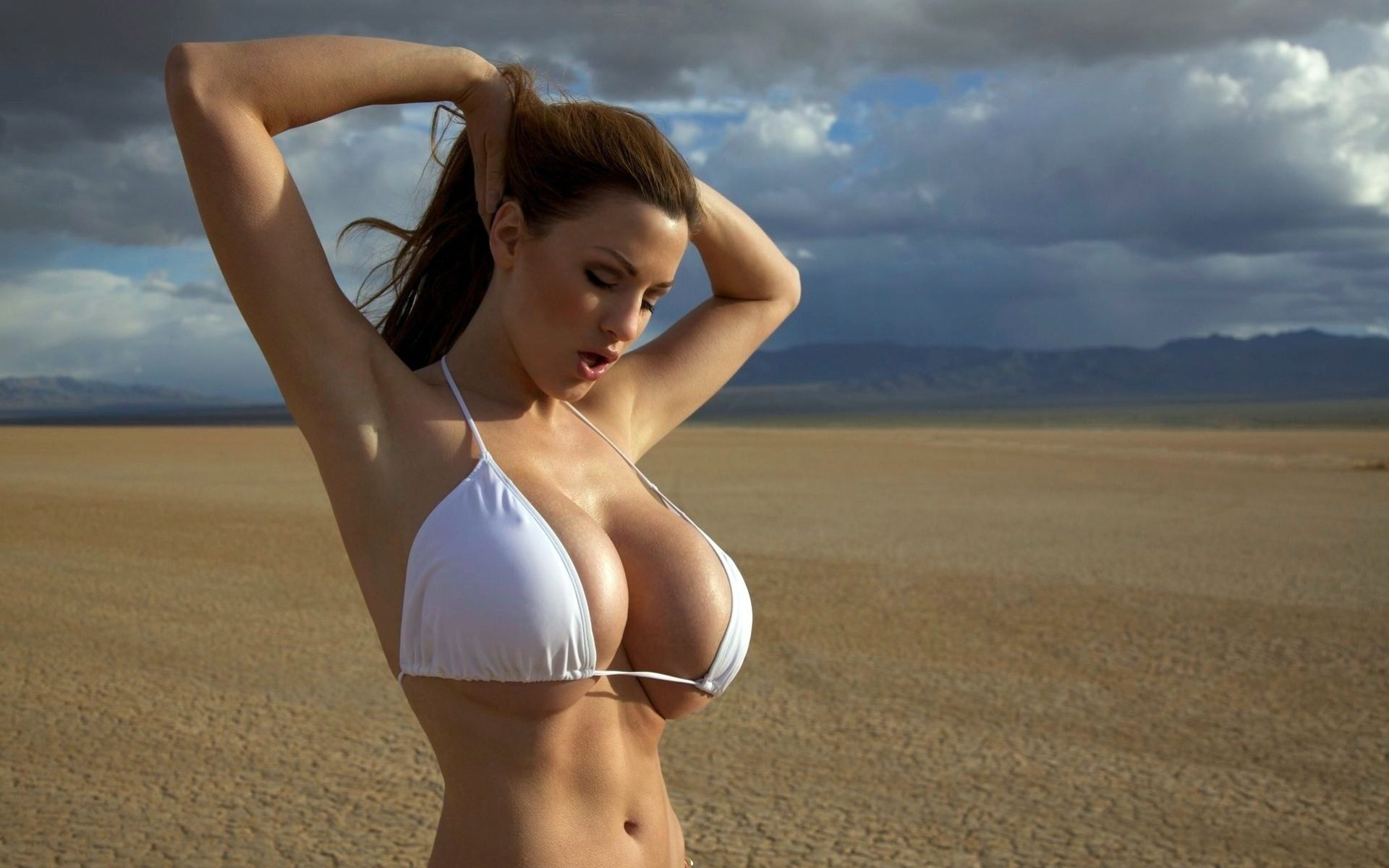 Jordan Carver tits big bikini mellons clouds boobs