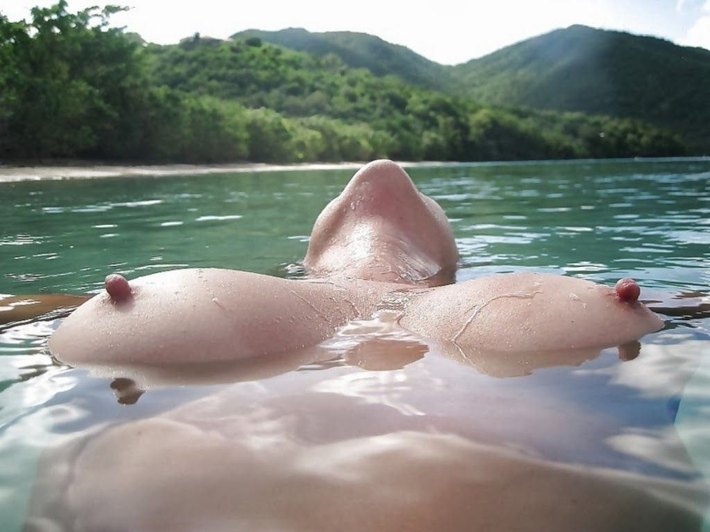 Perfect nipples at beach