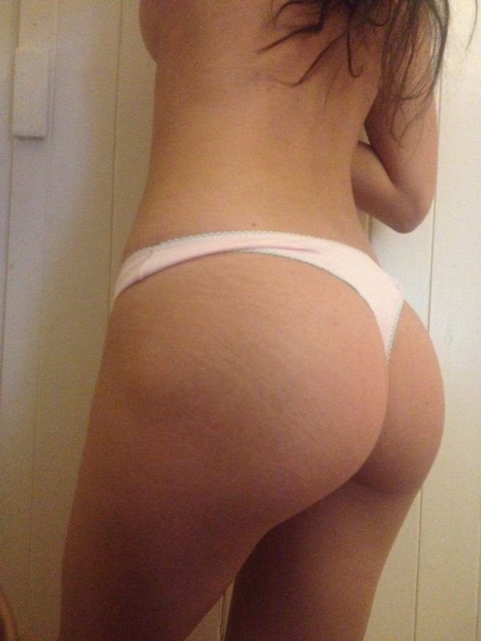 My ass in a cute cotton thong