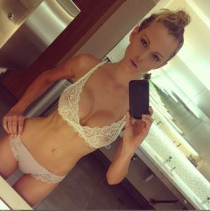 bra and panty selfie