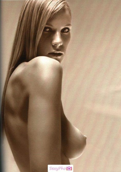 Ina Neidal topless black-&-white image
