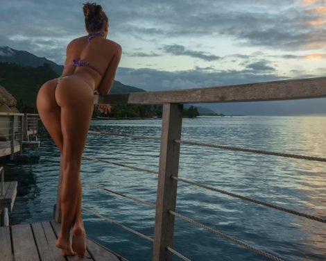 mountains-women-outdoors-women-model-sunset-sea-