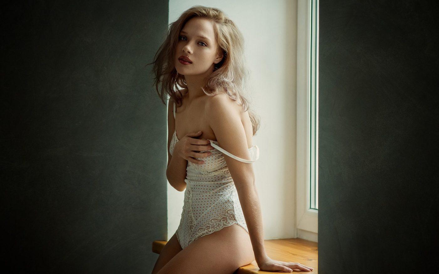 women-model-blonde-window-long-hair-sittin