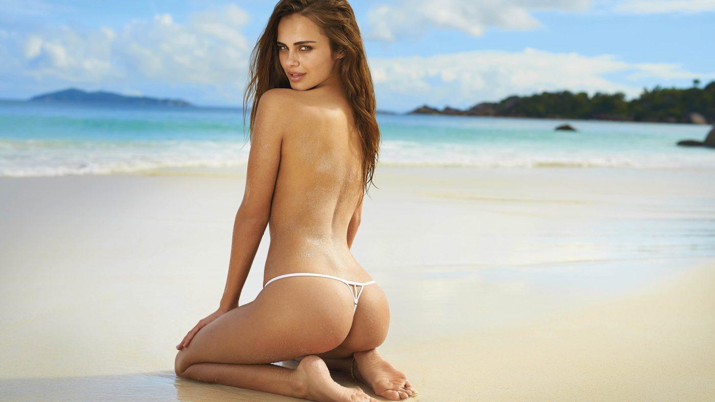 women-model-long-hair-brunette-beach-black-hair