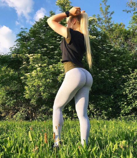 white leggings sexy ass