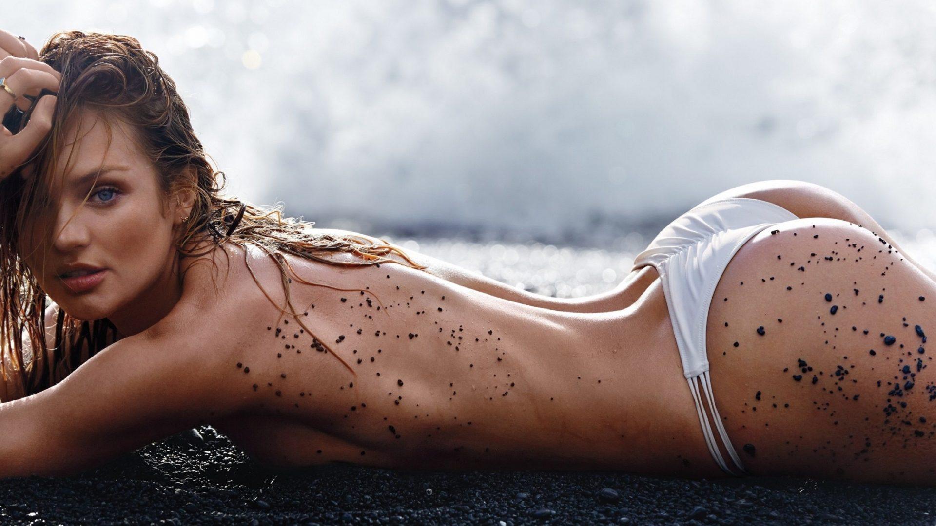 women-model-long-hair-celebrity-Candice-Swanepoel-lingerie