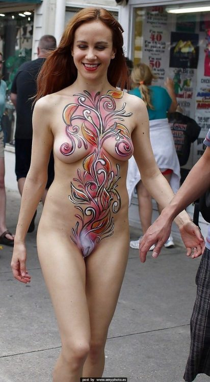 paint body nude