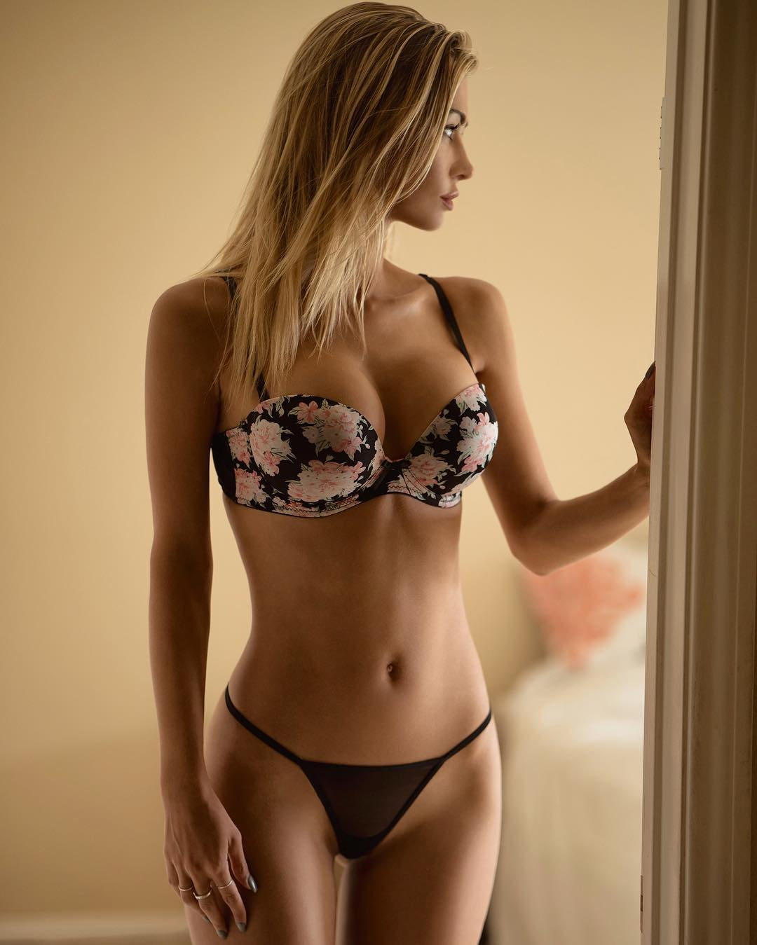 sexy blonde lingerie