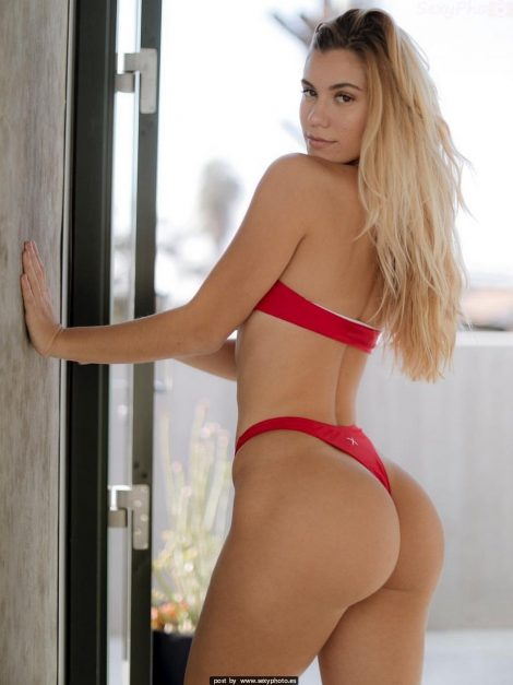 sexy ass red lingerie