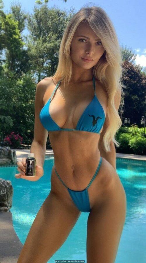 Amanda Ventrone bikini blue