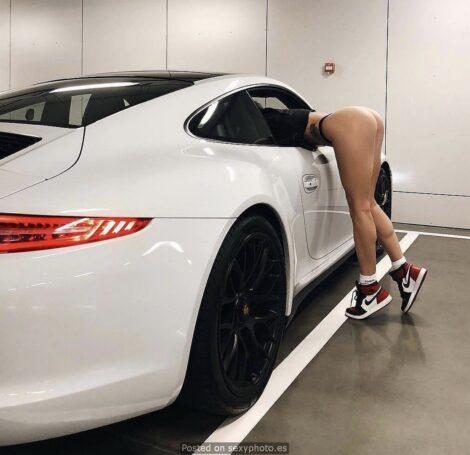 car sexy legs