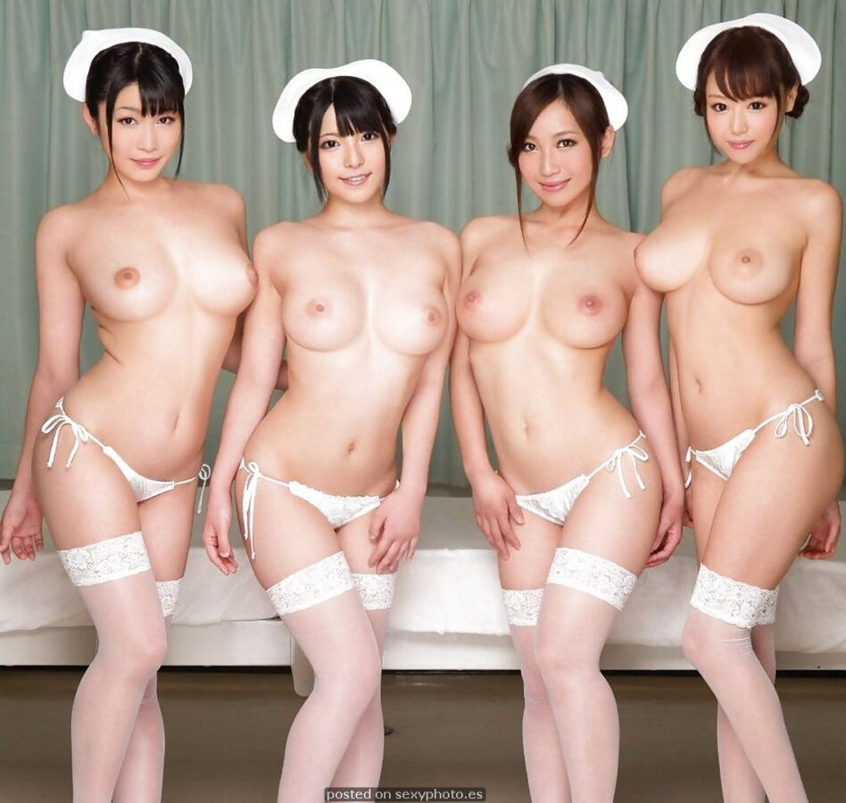 chinese hot four nurse group boobs