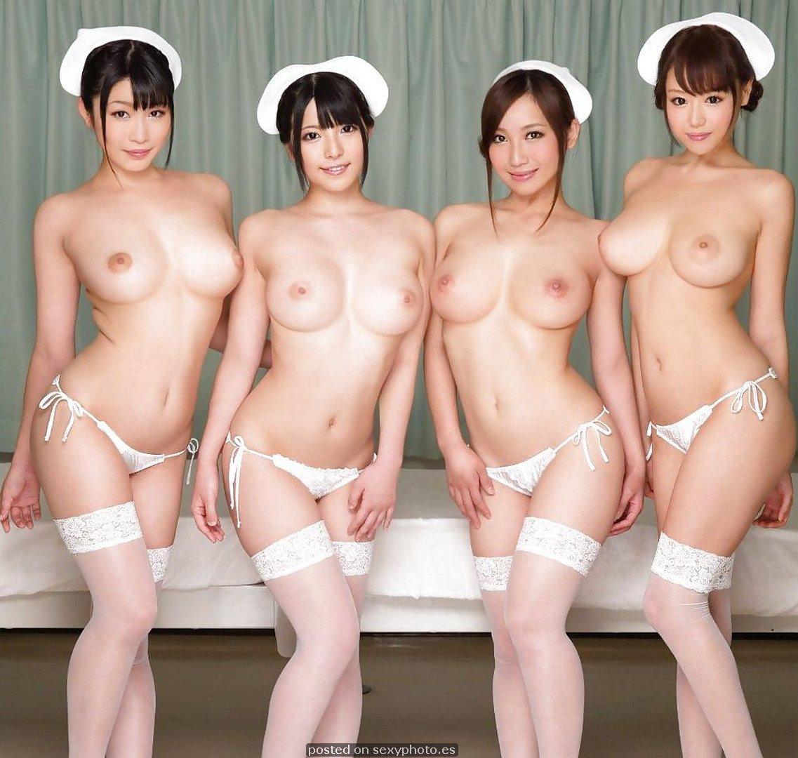 chinese hot four nurse group boobs
