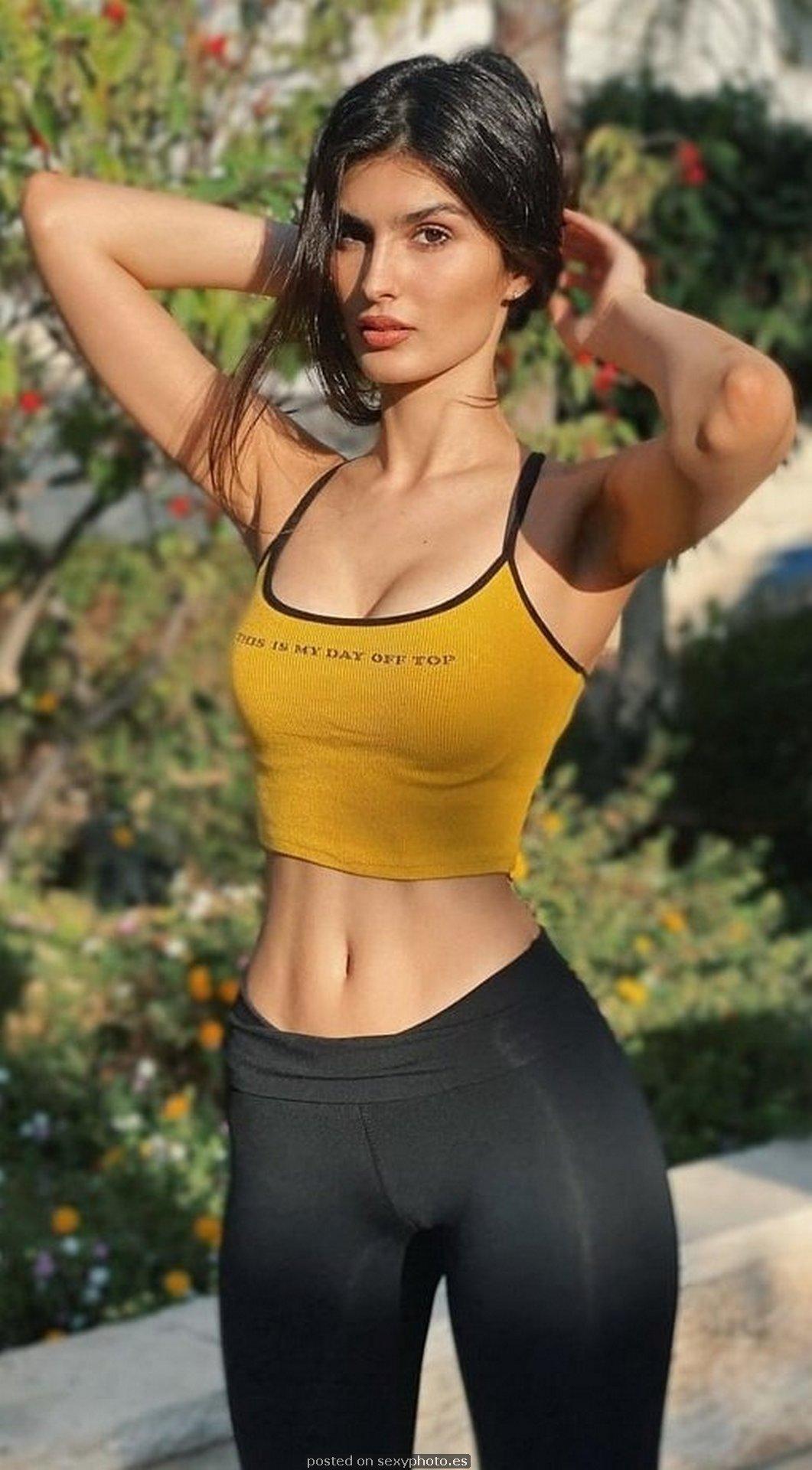 hot fitness girl leggings